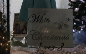 White Christmas Sign