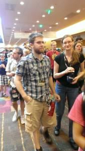 Trying not to panic even though surrounded by the Blob at GenCon.
